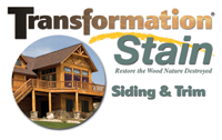 Transformation Siding and Trim Log Stain Logo